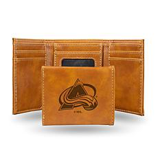 Rico Laser-Engraved Brown Tri-fold Wallet - Avalanche