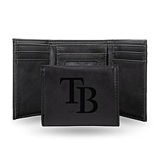 Rico Rays Laser-Engraved Black Trifold Wallet