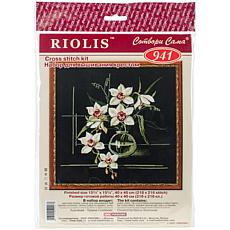 Riolis Counted Cross Stitch Kit - White Orchid, 15 Count