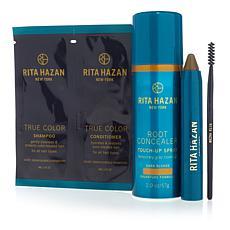 Rita Hazan Dark Blonde Root Concealer Spray and Stick Set
