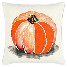 "Rizzy Home Harvest Pumpkin 20"" x 20"" Decorative Throw Pillow"