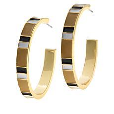 R.J. Graziano Colorblock Enamel Hoop Earrings