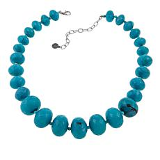 "R.J. Graziano Faceted Bead Graduated 20-3/4"" Necklace"