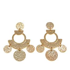 R.J. Graziano Geometric Textured Drop Earrings