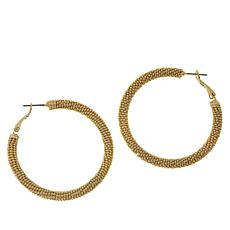 R.J. Graziano Mesh Hoop Earrings