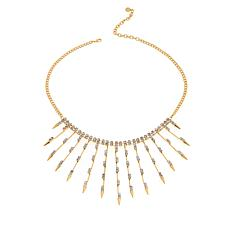 "R.J. Graziano ""On Point"" Crystal Spike  Bib Necklace"