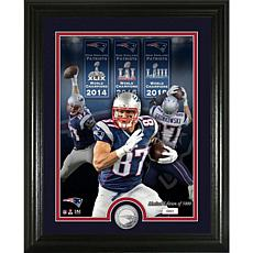 Rob Gronkowski Super Bowl Champion Silver Coin Photo Mint
