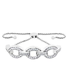 "Robert Manse ""CZ RoManse"" Oval Link Adjustable Bracelet"