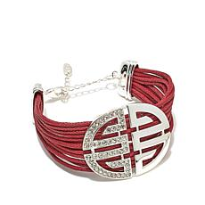 "Roberto by RFM Pavé Station Multi-Row 7"" Cord Bracelet"