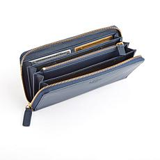 Royce Leather Personalizable RFID Continental Wallet