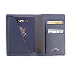 Royce Leather Personalizable RFID Passport Wallet