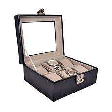 Royce Personalized Luxury 6-Slot Watch Box Display Case