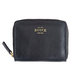 Royce Zippered Credit Card Case