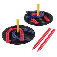 Rubber Horseshoes Game Set for Outdoor and Indoor Games  by Hey! Play!