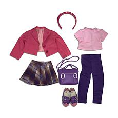 Ruby Red Fashion Friends Cheers for Plaid Outfit Set