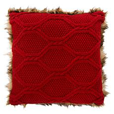 "Safavieh 20"" x 20"" Luccia Faux Fur Pillow"