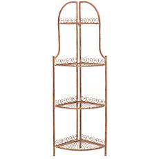 Safavieh Abarrane 4-Tier Outdoor Corner Shelf