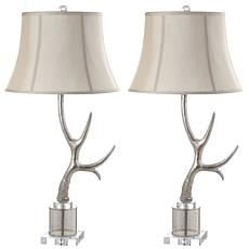 "Safavieh Adele Antler 16"" Table Lamp Set"