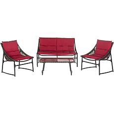 Safavieh Berkane 4-piece Outdoor Living Set