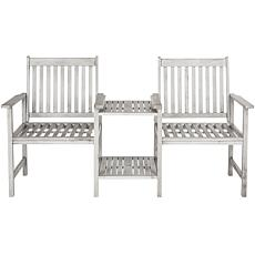 Safavieh Brea Twin-Seat Bench - Ash Gray Finish
