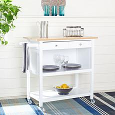 Safavieh Daley 2-Drawer 3-Shelf Kitchen Cart