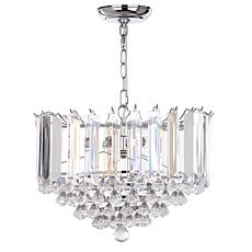 "Safavieh Hampton 2 Light Chrome 16-1/2"" Diameter Glass Pendant"