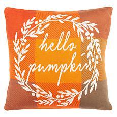 """Safavieh Hello Pumpkin 18"""" x 18"""" Pillow"""