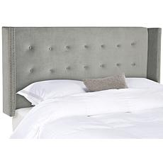 Safavieh Keegan Velvet Tufted Wingback Headboard-Queen