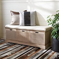 Safavieh Landers 3-Drawer Cushion Storage Bench
