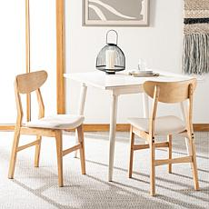 Safavieh Lucca Retro Natural Dining Chair 2-pack