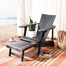 Safavieh Merlin Adirondack Chair with Retractable Footrest