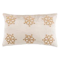 "Safavieh Sydnee Snowflake 12"" x 20"" Pillow"