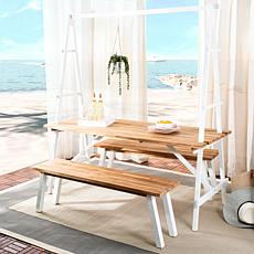 Safavieh Willamy 3-piece Outdoor Dining Set