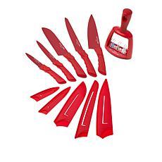Safe-T-Grip 11-piece Knife Set with Sharpener