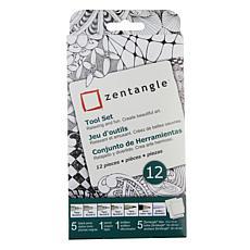 Sakura Zentangle Drawing Set of 12 - White