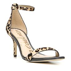 Sam Edelman Patti Haircalf Leopard-Print Low-Heel Sandal