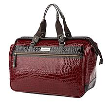 Samantha Brown Embossed Wire Frame Satchel