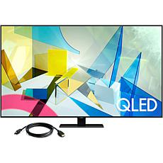 """Samsung 55"""" Q80T QLED 4K UHD HDR Smart TV (2020) with HDMI Cable"""