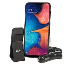 "Samsung Galaxy A20 6.4"" HD+ Tracfone with 1500 Min/Text/Data w/Clckr"