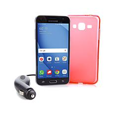 "Samsung Galaxy J3 5"" Android Smartphone w/Car Charger & Apps - Verizon"