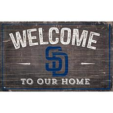 San Diego Padres 11x19 Welcome to our Home Sign