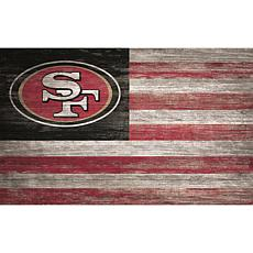 San Francisco 49ers Distressed Flag 11x19