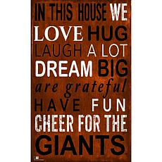 San Francisco Giants In This House Sign