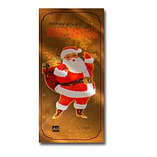 Santa Claus   24K Gold Aurum Collectible Note