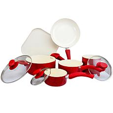 Santa Fe 9 Piece Cookware Set in Red Speckle