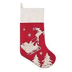 Santa Sleigh Stocking B