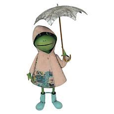 "Santa's Workshop 24"" Mrs. Frog in the Rain Figurine"