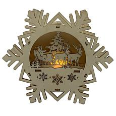 "Santa's Workshop 7"" Lighted Snowflake Scene"