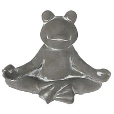Santa's Workshop Cement Yoga Frog