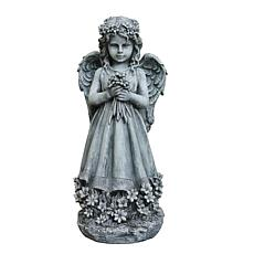 Santa's Workshop Grey Angel Statue